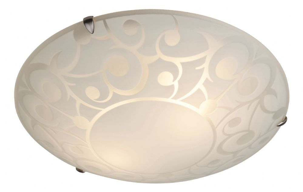 Firstlight CF11 Opal Glass with Decorative Pattern Coral Flush Fitting